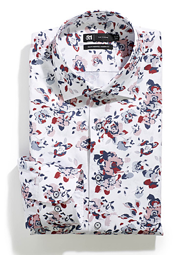 Pixelated floral shirt  Modern fit