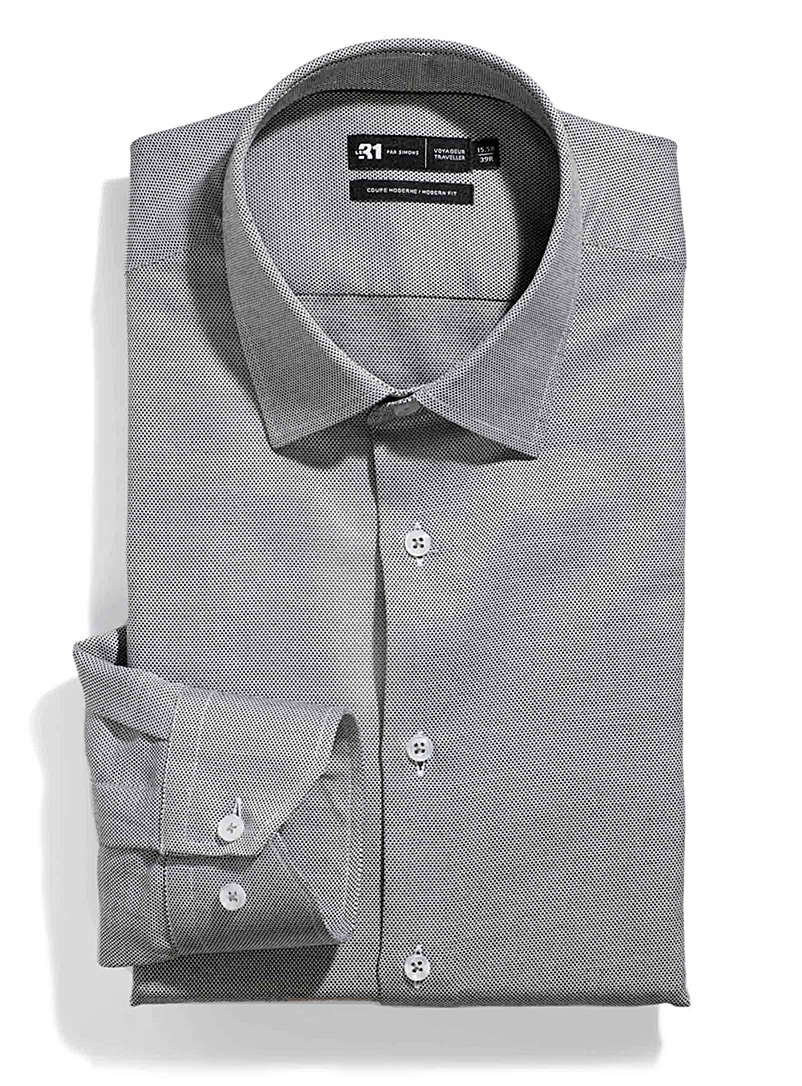 Le 31 Black Caviar Traveller shirt  Modern fit for men