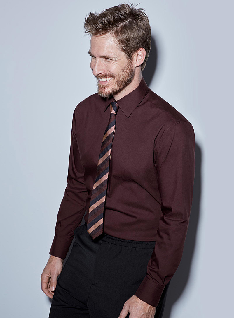Le 31 Ruby Red Stretch shirt  Modern fit for men
