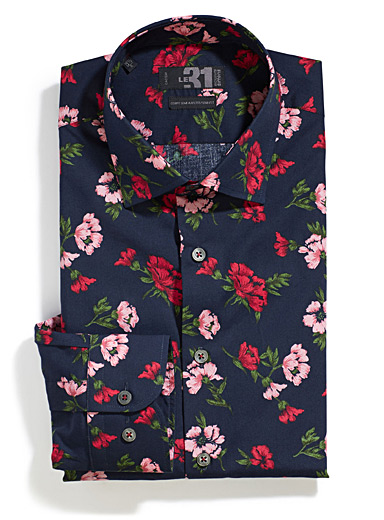 Japanese flowers shirt  Semi-tailored fit