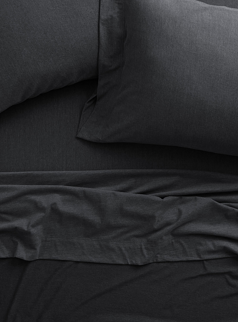 Brushed jersey sheet set - Sheets & Pillowcases - Grey