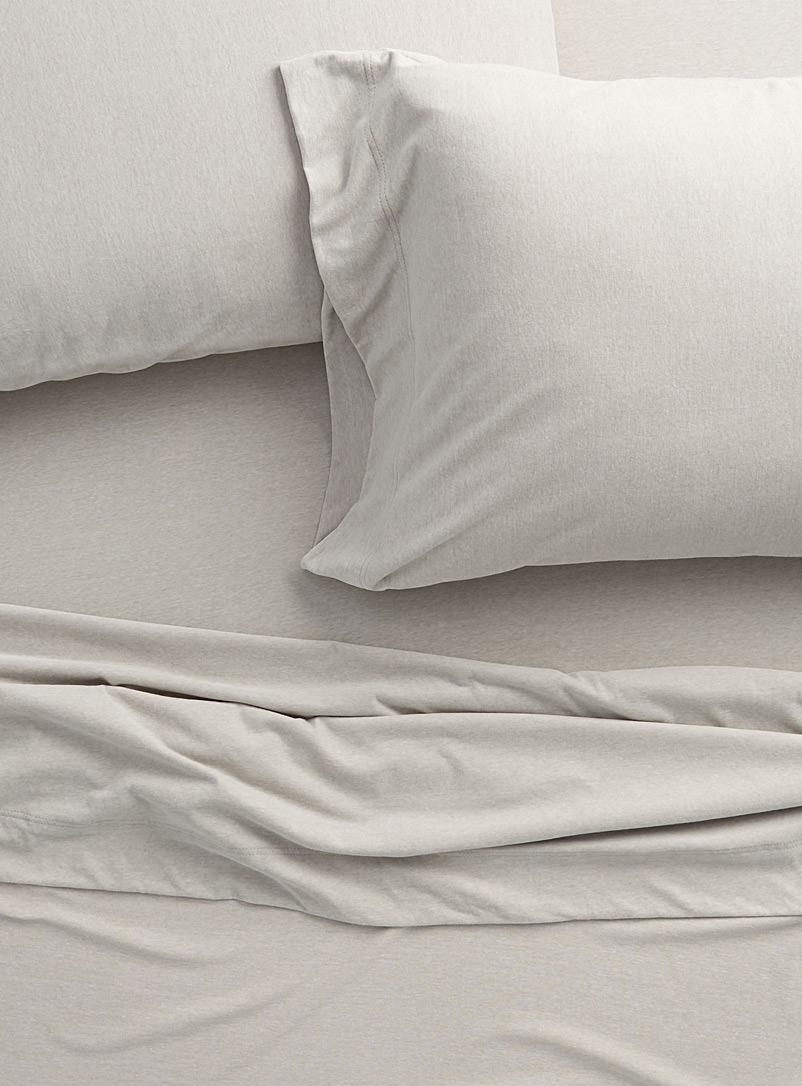 Brushed jersey sheet set