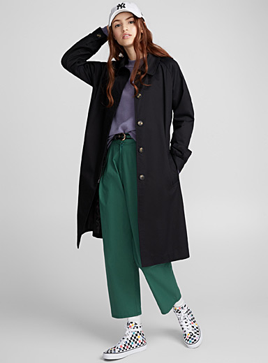 Loose urban trench coat