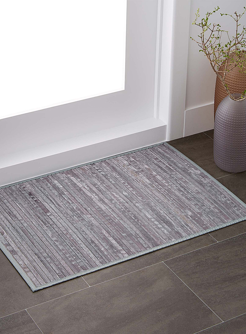 Bamboo slat rug  60 x 90 cm - Neutral Basics - Grey
