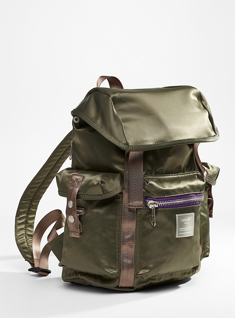 Anello Mossy Green Water-resistant utility backpack for women