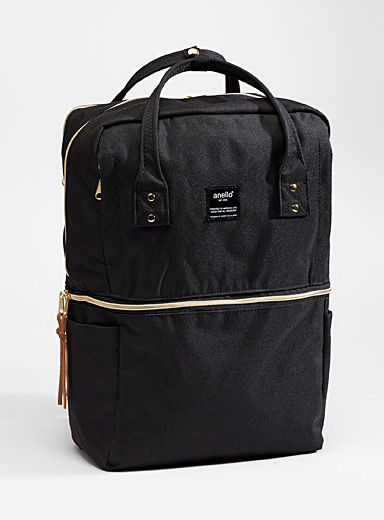 Monochrome canvas backpack