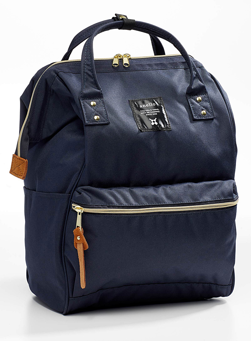 Anello Marine Blue Signature backpack for women