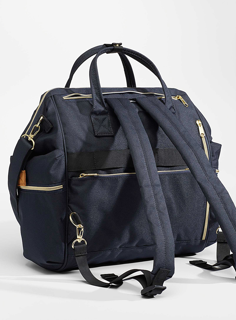 Anello Black REPREVE* convertible backpack for women