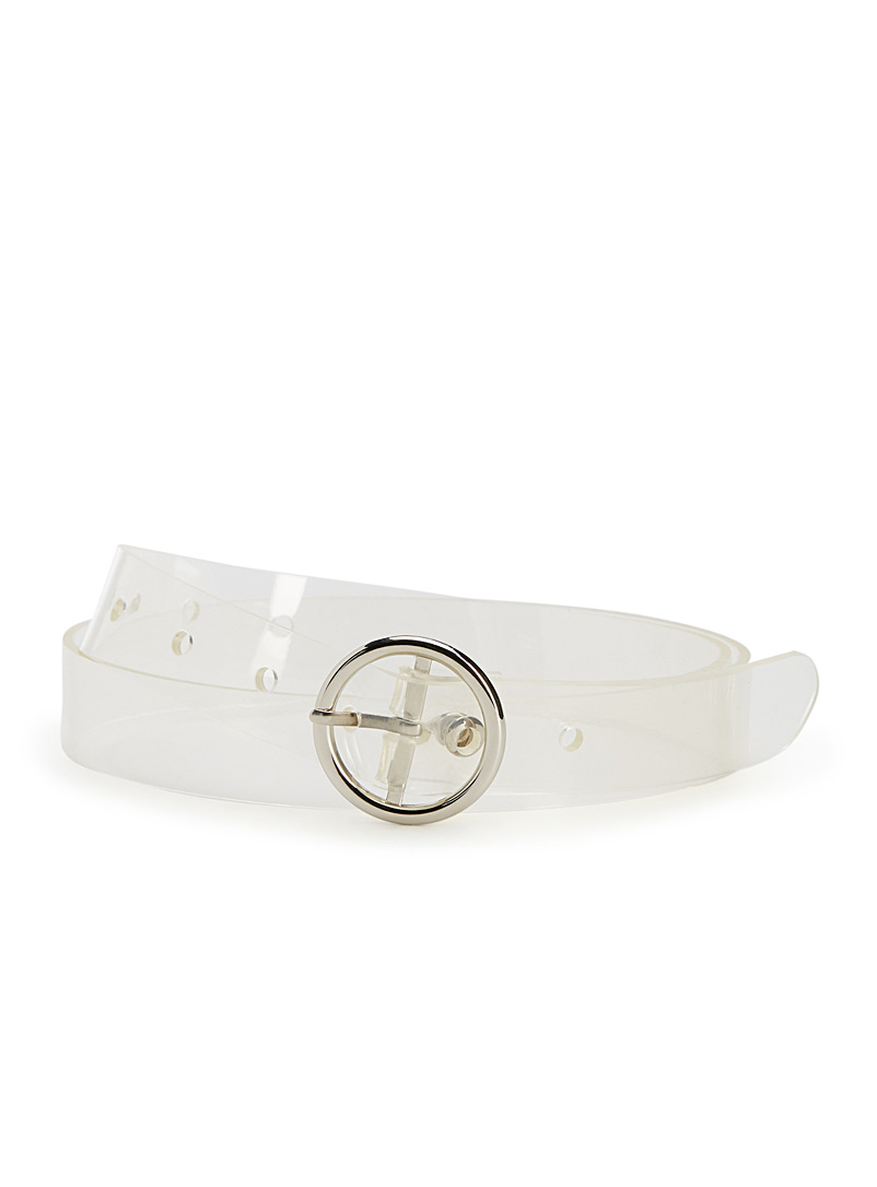 Transparent belt - Belts - White