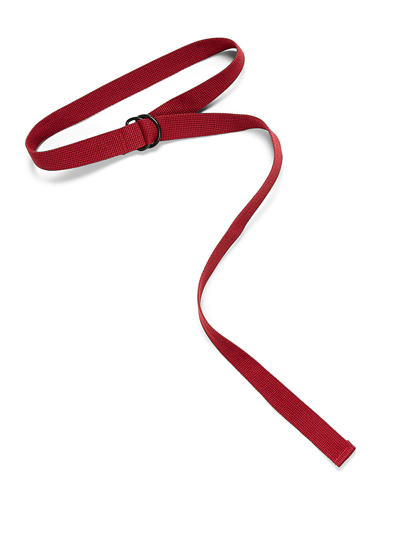 Simons Brown Contrasting buckle strap belt for women