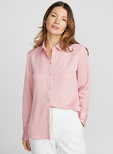 Satiny crepe shirt