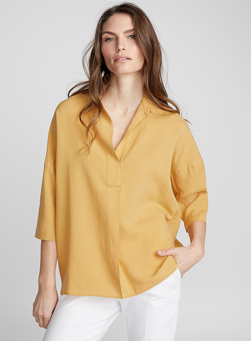linen-and-lyocell-johnny-collar-blouse