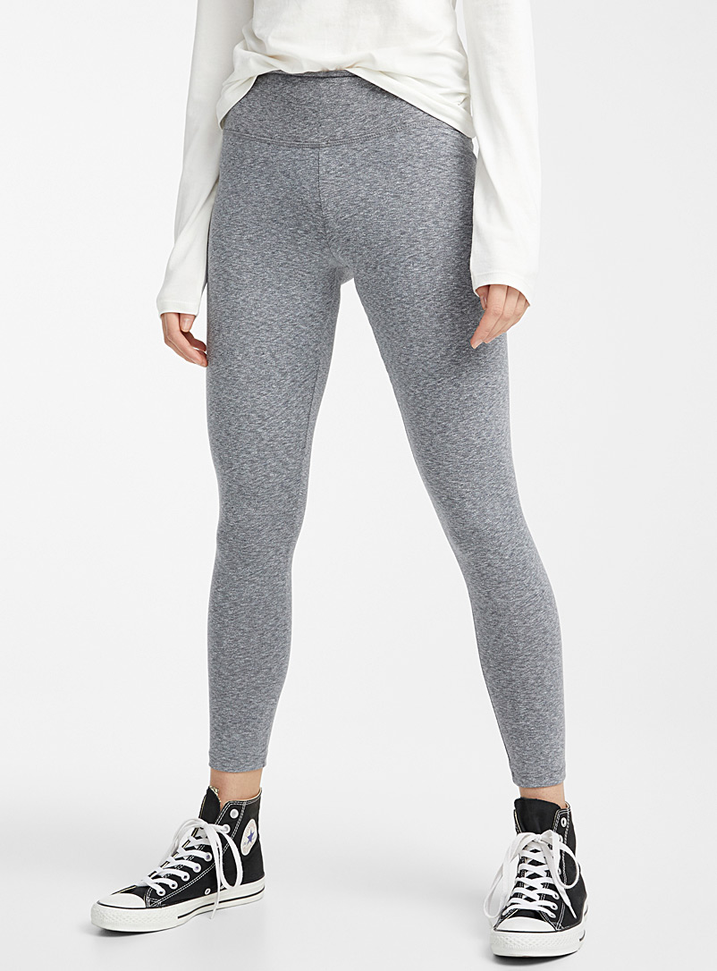 Twik Grey Stretch cotton high-rise legging for women
