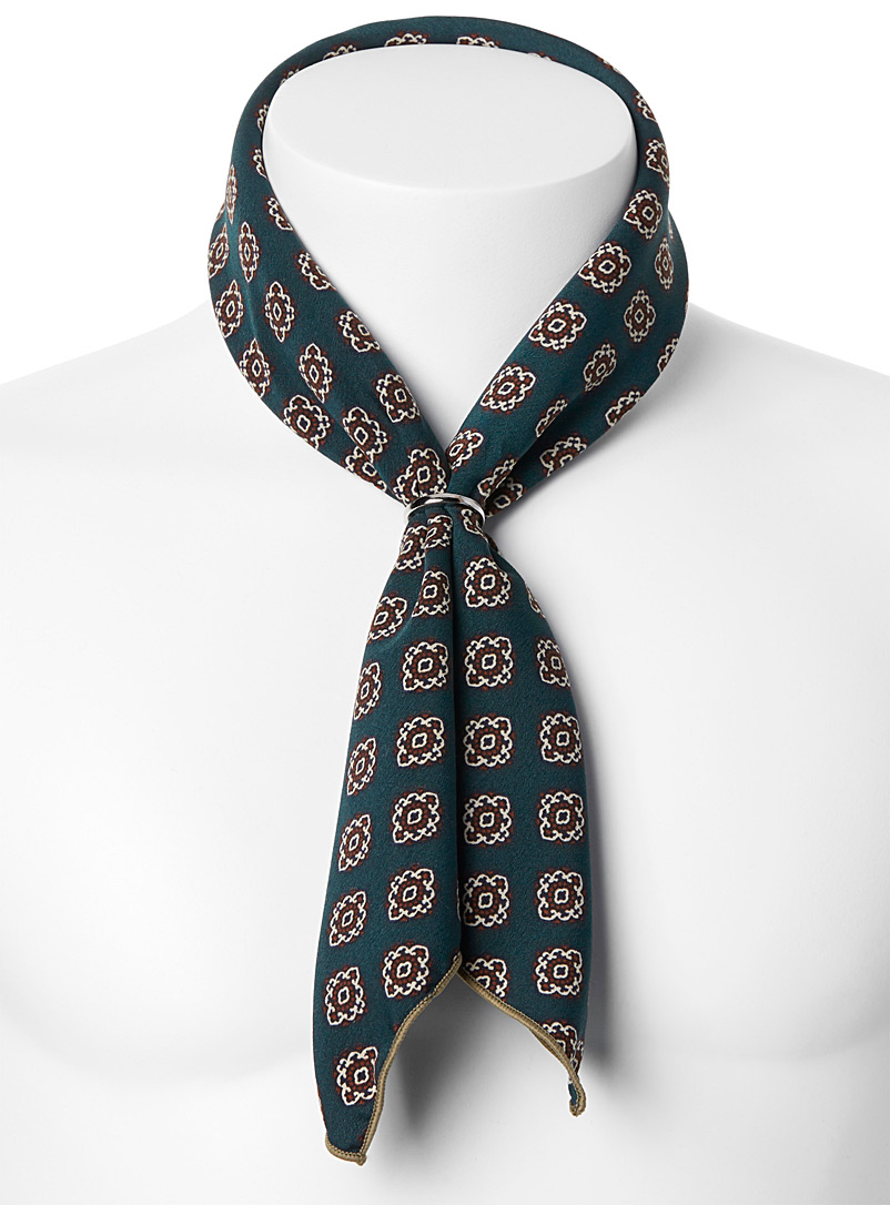 Repeat medallion scarf - Pocket Squares & Scarves - Green