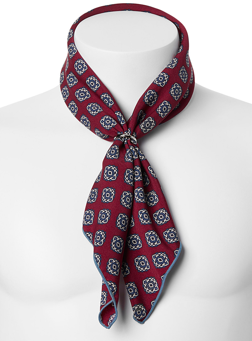 Repeat medallion scarf - Pocket Squares & Scarves - Ruby Red