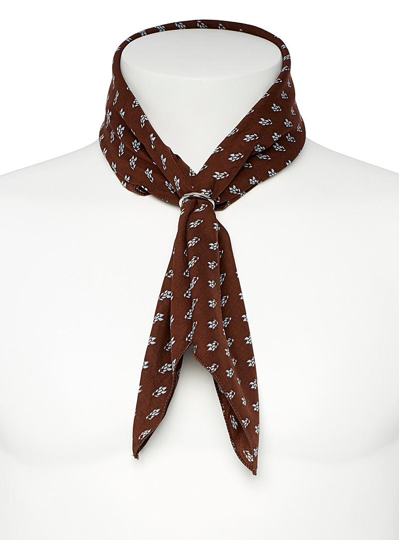 Le 31 Fawn Mini pattern scarf for men