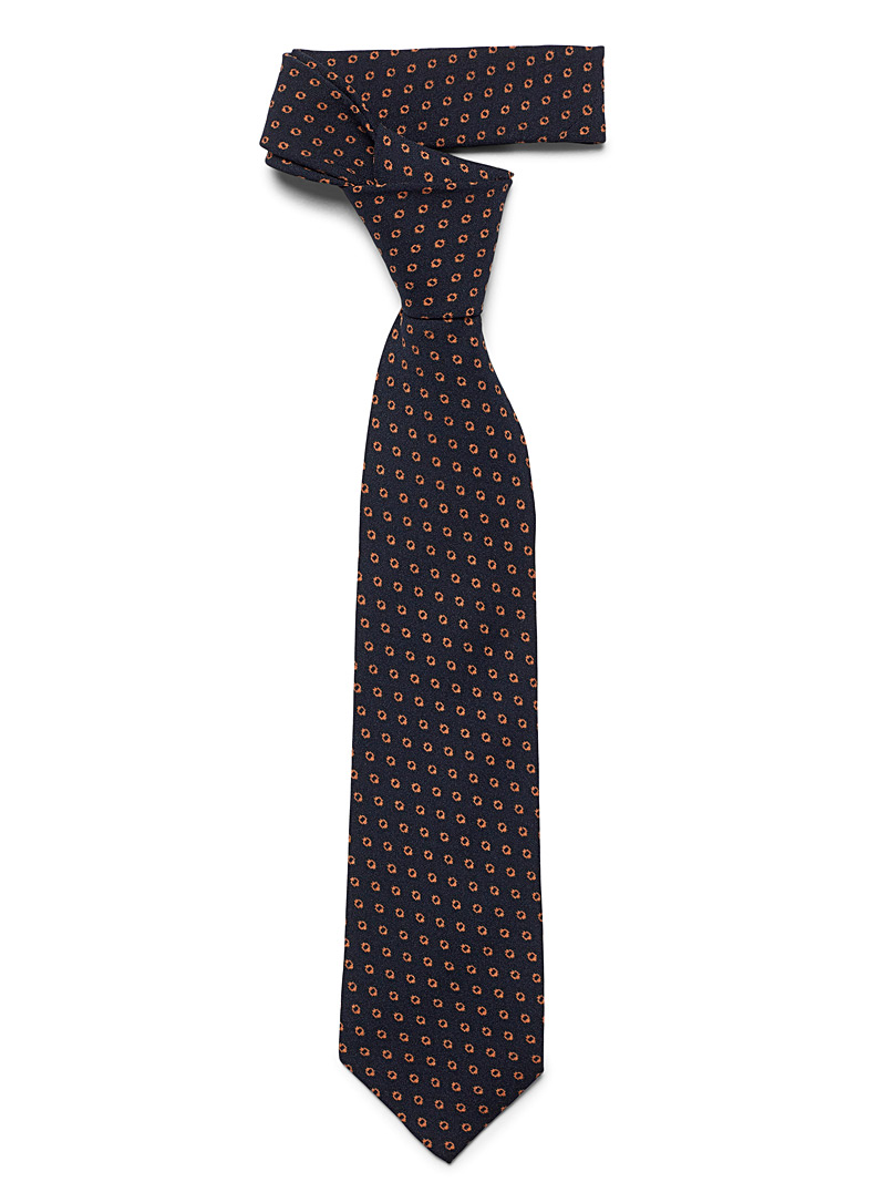 Traced dot tie - Regular Ties - Patterned Blue