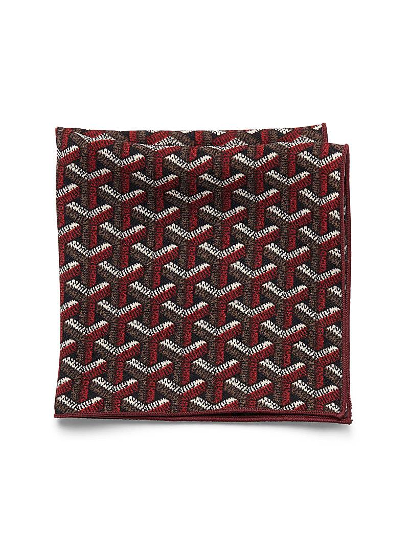 Crisscross geometry pocket scarf