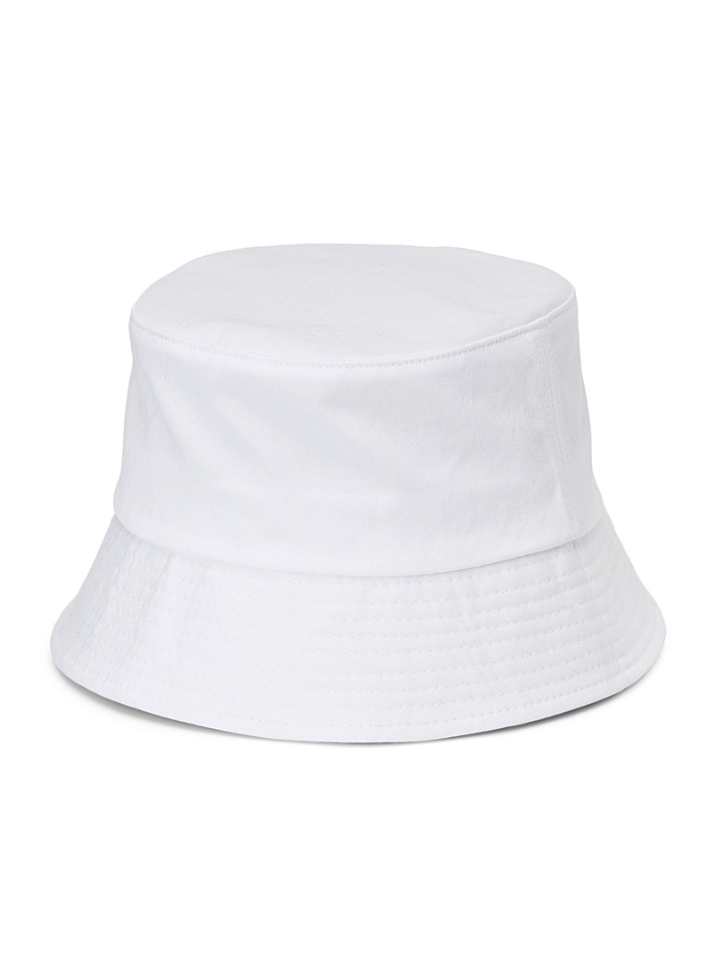 Pure cotton bucket hat - Hats - White
