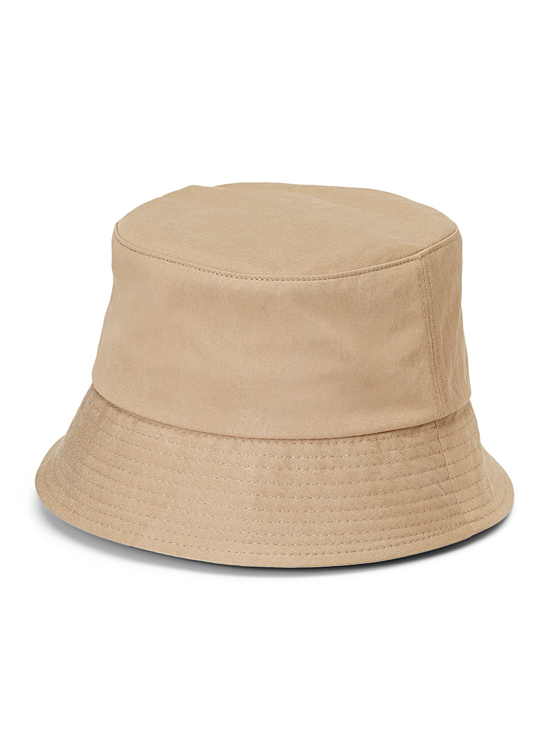 Le 31 Cream Beige Pure cotton bucket hat for men