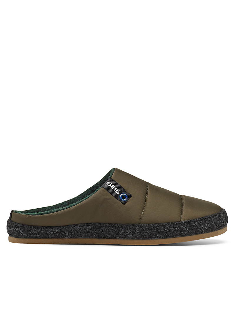 Verbenas Mossy Green Acolchado mule slippers  Men for men