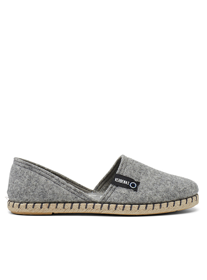 Felted espadrille slippers