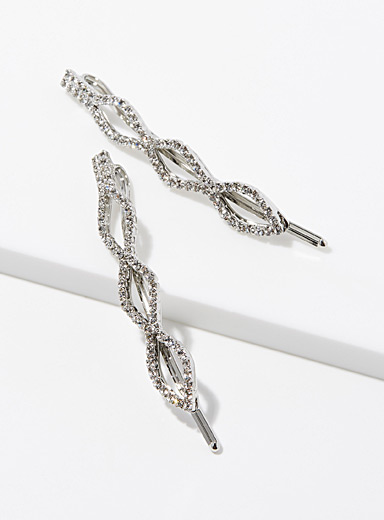 Triple diamond clips  Set of 2