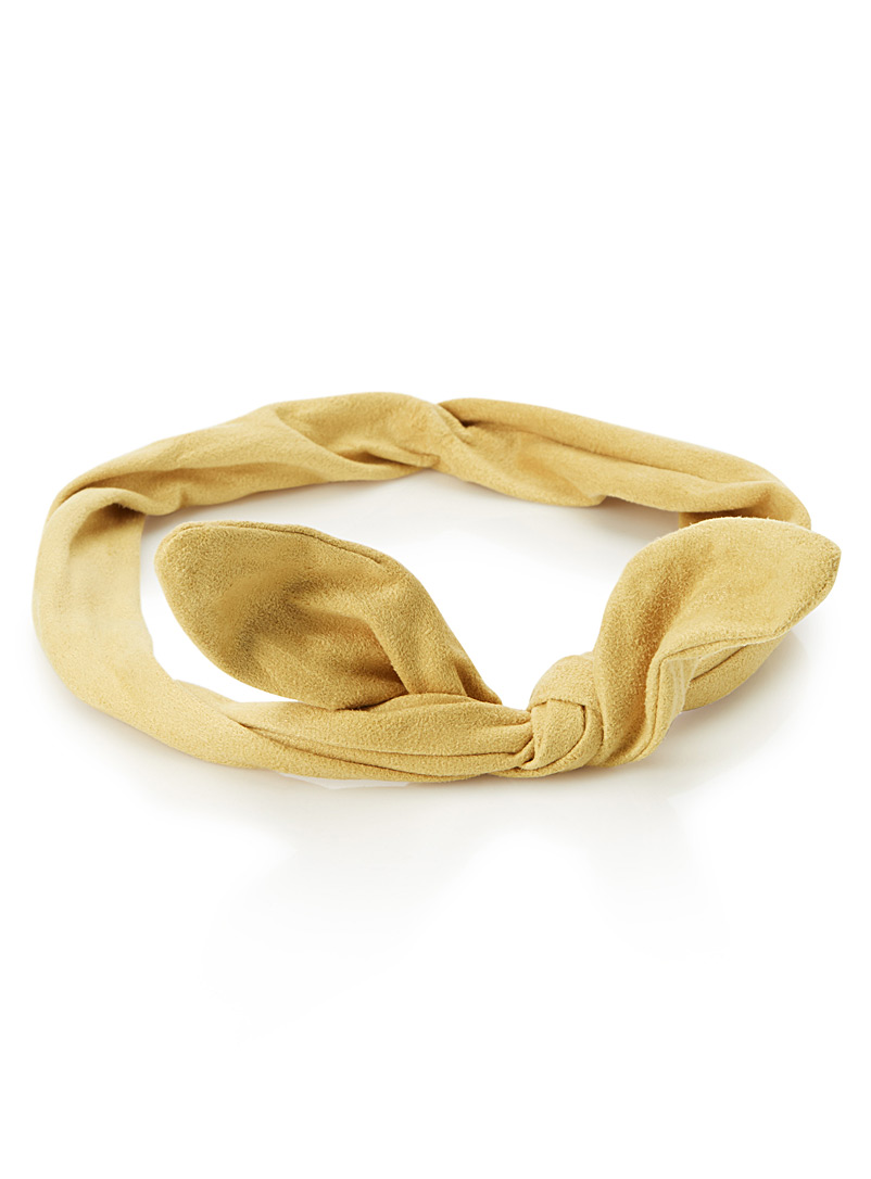 Faux-suede tie headband - Headbands - Medium Yellow