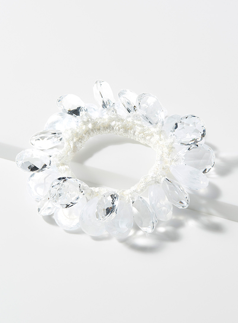 faceted-bead-scrunchie
