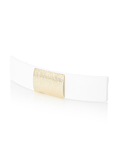 Golden square barrette