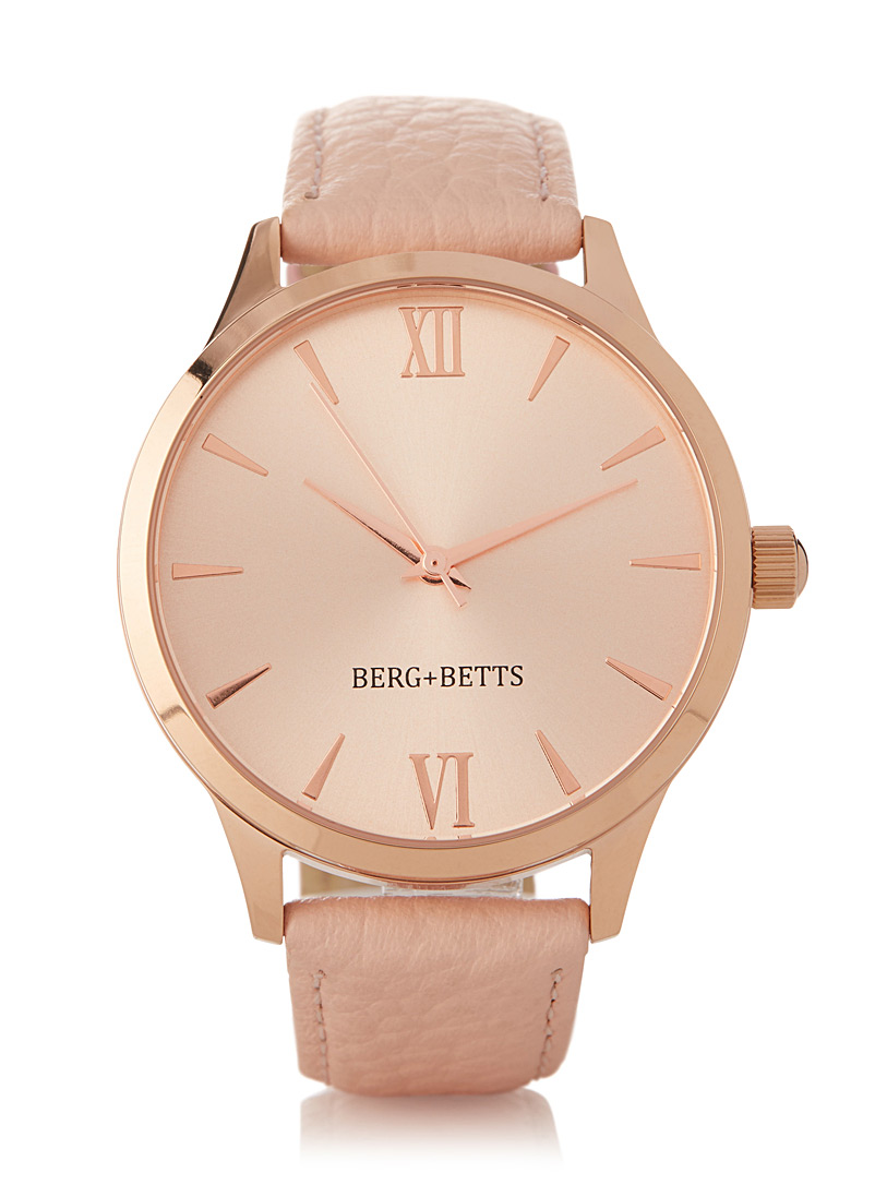 Mindful rose gold and peach watch - Watches - Assorted