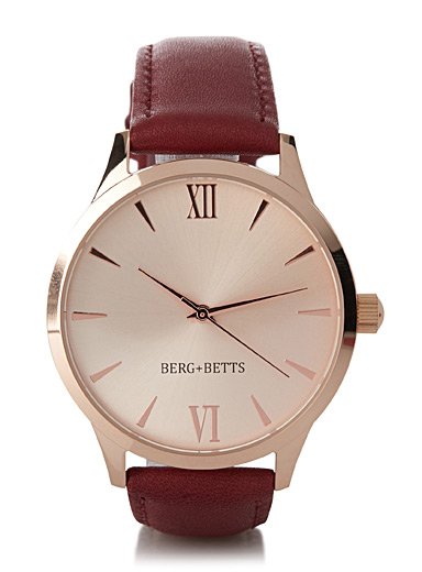 Coloured leather Mindful watch