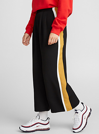 Pleated loose high-rise pant