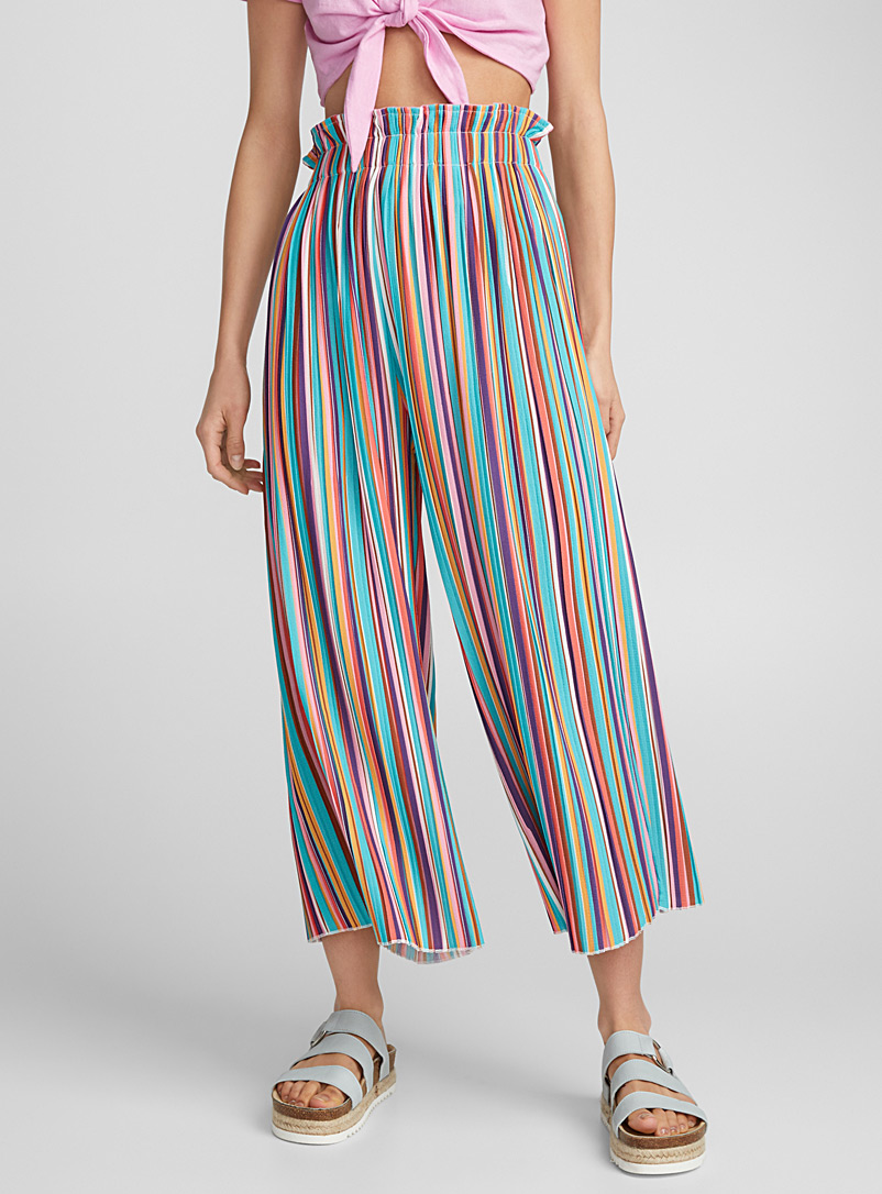 Multicolour gaucho pant - Wide leg - Assorted