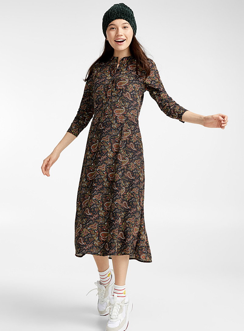 mandarin-collar-floral-dress