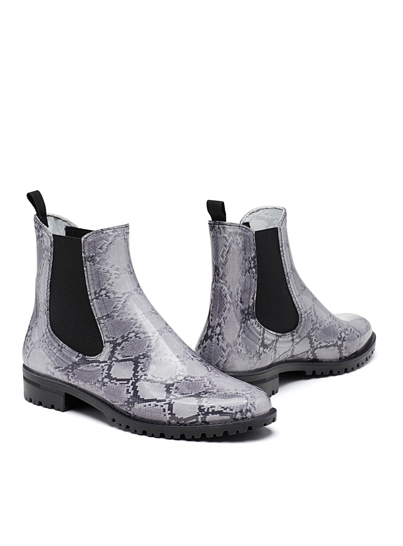 Snakeskin rain boots - Boots - Patterned White