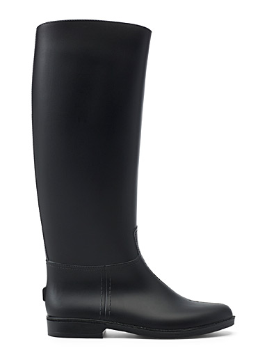 Simons Black Essential matte rain boots for women