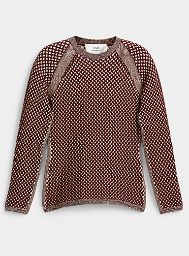 Victoria Victoria Beckham Ruby Red Ribbed knit sweater for women