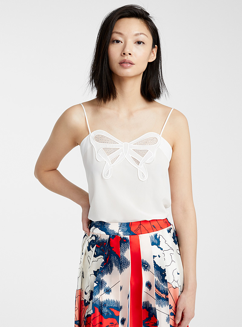 Victoria Victoria Beckham Ivory White Butterfly cami for women