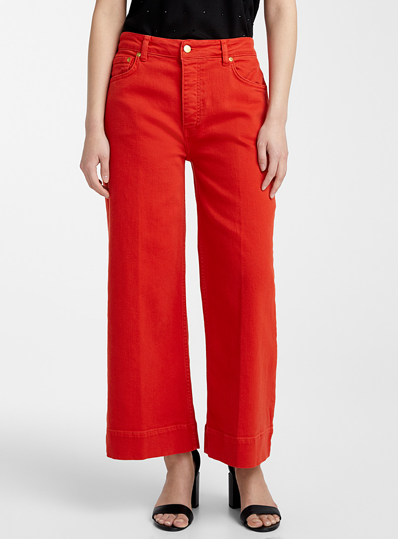 Victoria Victoria Beckham Red Cropped wide-leg jean for women