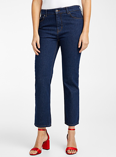 Victoria Victoria Beckham Sapphire Blue Raw jean for women