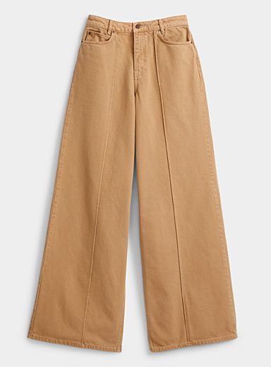 Victoria Victoria Beckham Fawn Exaggerated wide-leg jean for women