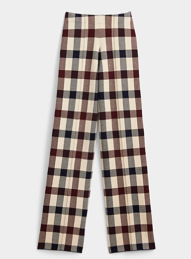Victoria Victoria Beckham Assorted Check knit pant for women