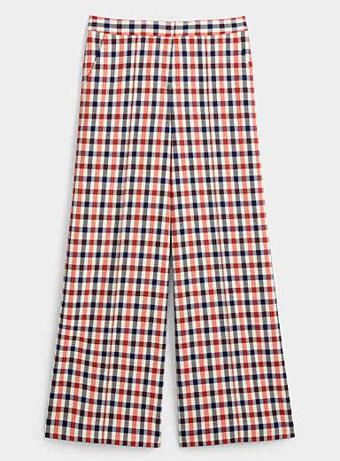 Victoria Victoria Beckham Assorted Panama check pyjama-style pant for women