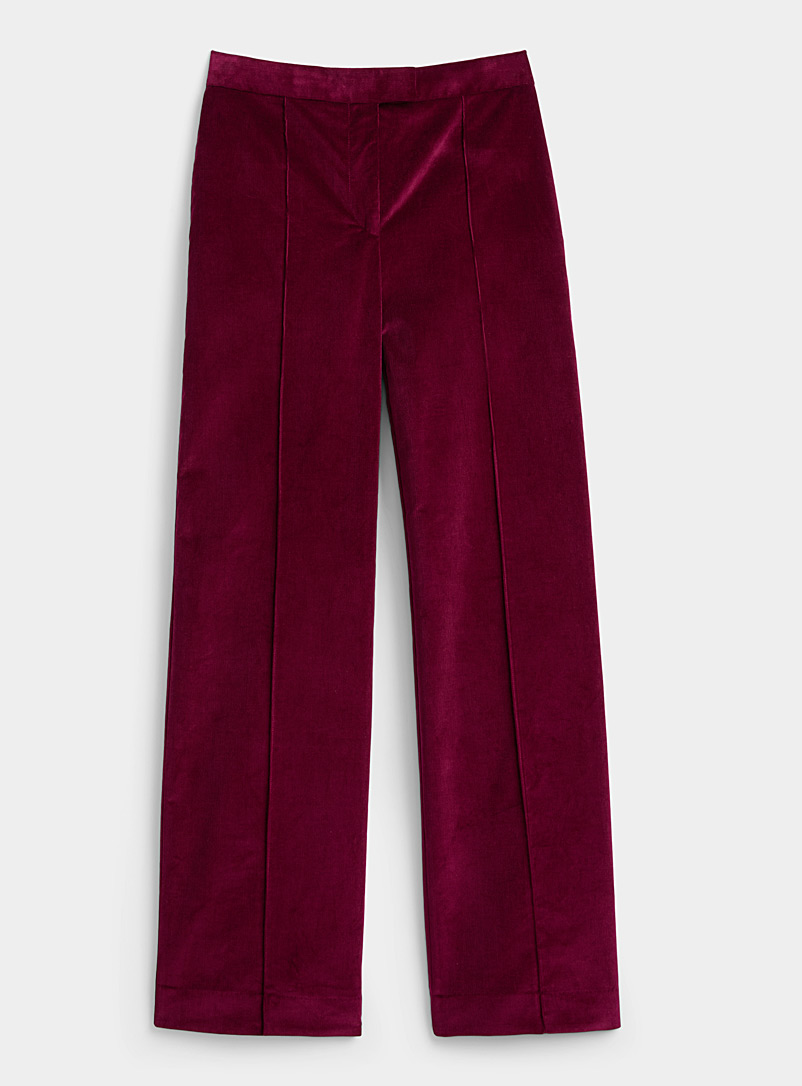 Victoria Victoria Beckham Cherry Red Ruby corduroy pant for women