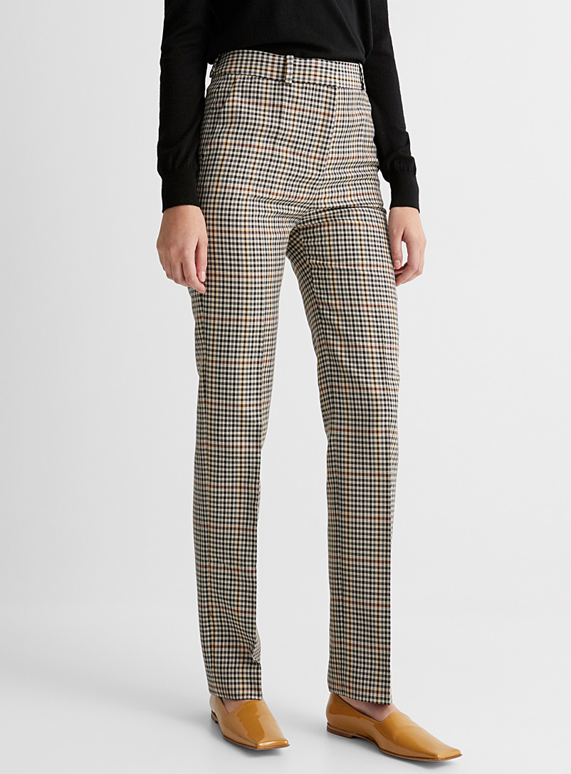 Accent check pant