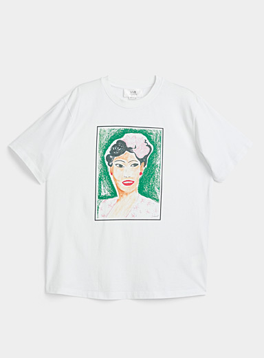 Victoria Victoria Beckham Patterned White Billie Holiday T-shirt for women