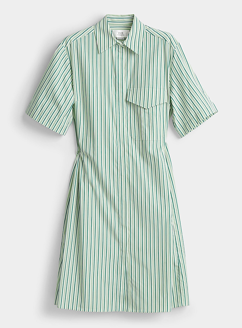 Victoria Victoria Beckham Lime Green Striped open-back dress for women