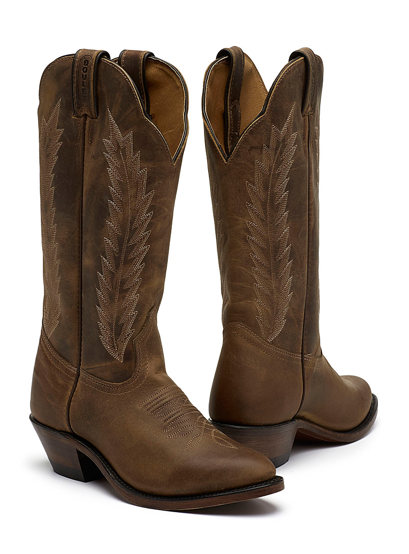 9026 Western boots  Women - Canadian Brands - Fawn