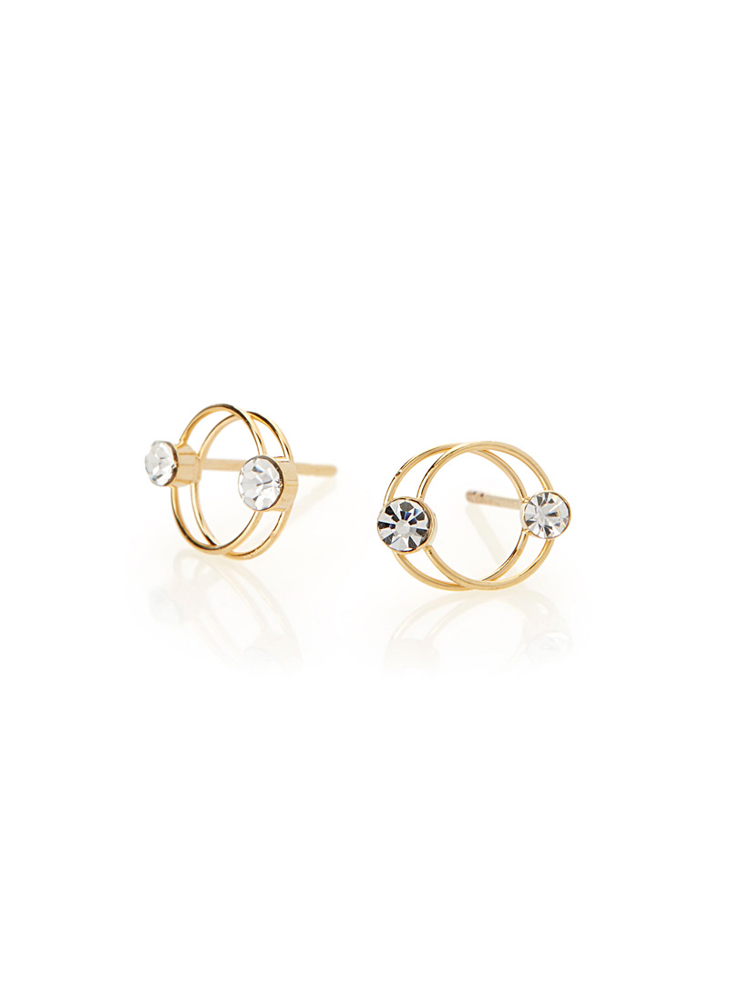 Simons Assorted Intertwined circle earrings for women